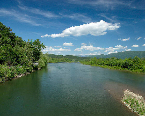 Landscape Poster featuring the photograph Old Man River by Steve Kenney