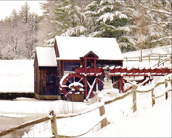Poster featuring the photograph Old Mill In Winter by Roger Soule