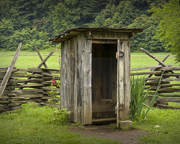 Old Outhouse On A Farm In The Smokey Mountains Poster By