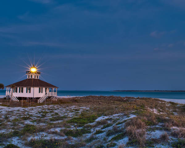 Lighthouse Poster featuring the photograph Old Port Boca Grande Lighthouse by Rich Leighton