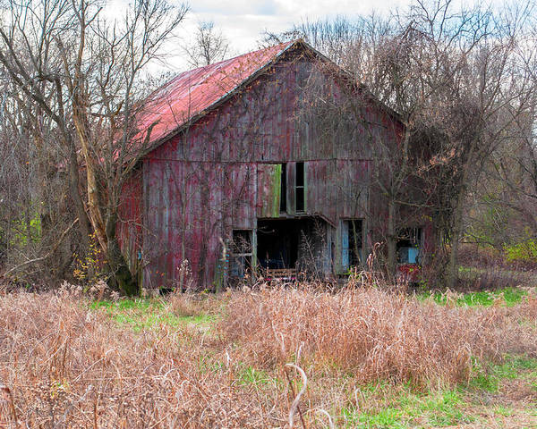Barn Poster featuring the photograph Old Red Barn by Carlton Cates