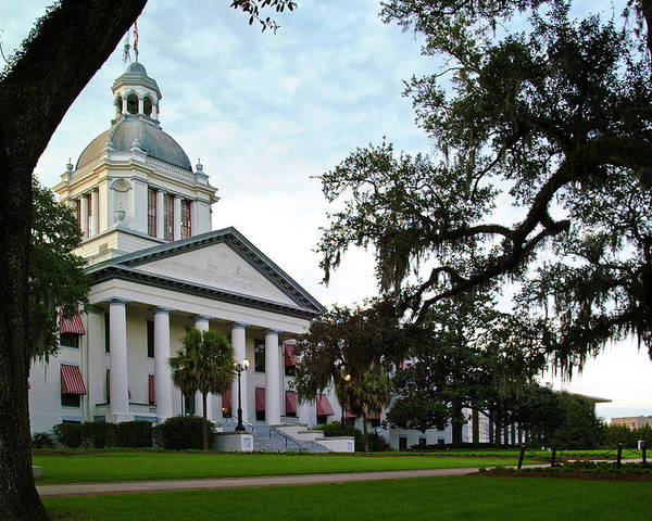 Color Photograph Poster featuring the photograph Old State Capitol by Wayne Denmark