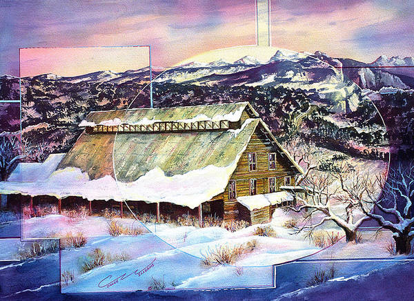 Barn Poster featuring the painting Old Stelty Packing Shed by Connie Williams