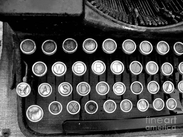 Typewriter Poster featuring the photograph Old Tech Low Tech by Mark Grayden