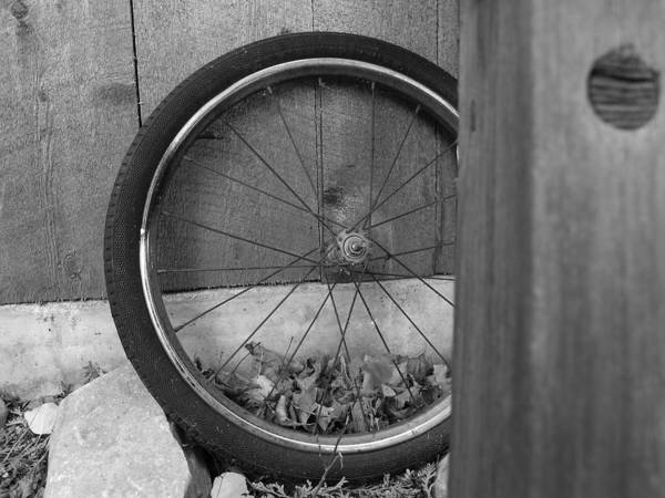Bicycle Tire Poster featuring the photograph Old Tire by Jacob Stempky