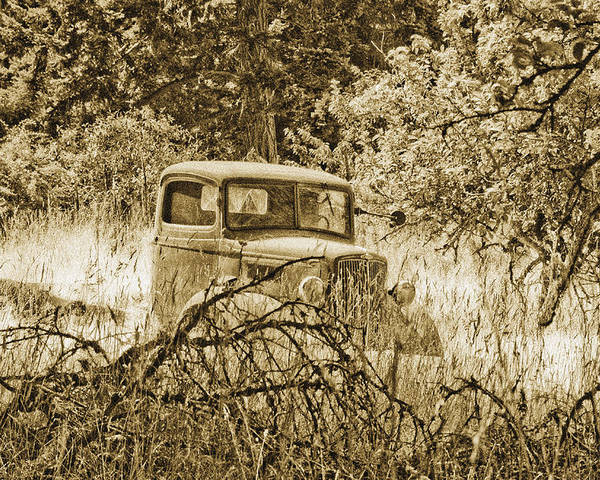 Vintage Poster featuring the photograph Old Truck by Linda McRae