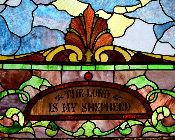 Stained Glass Poster featuring the photograph Old Window 2 by James Richmond