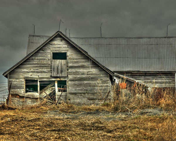 Rcouper Poster featuring the photograph Old Wood Barn by Rick Couper