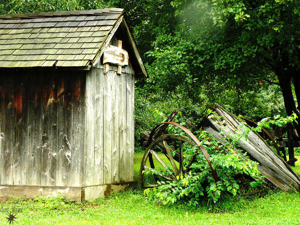 Hovind Poster featuring the photograph Old Wood Shed by Scott Hovind