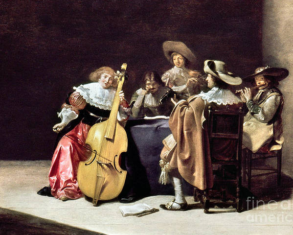 1633 Poster featuring the photograph Olis: A Musical Party by Granger
