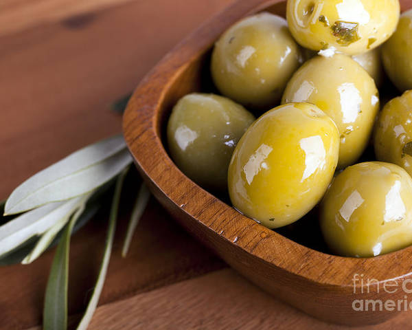 Health Poster featuring the photograph Olive Bowl by Jane Rix