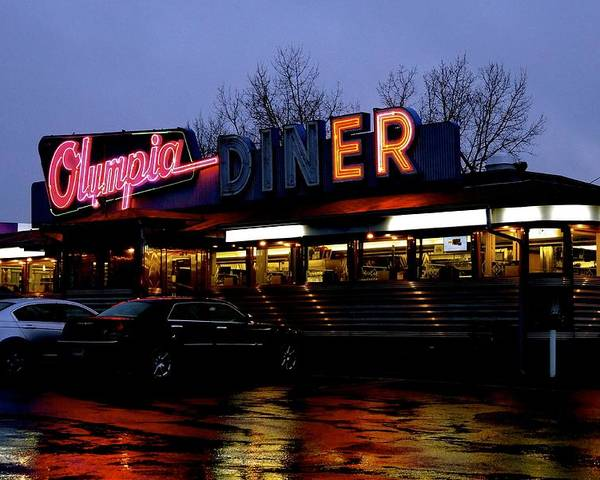 Diner Poster featuring the photograph Olympia Diner by Jasmin Hrnjic