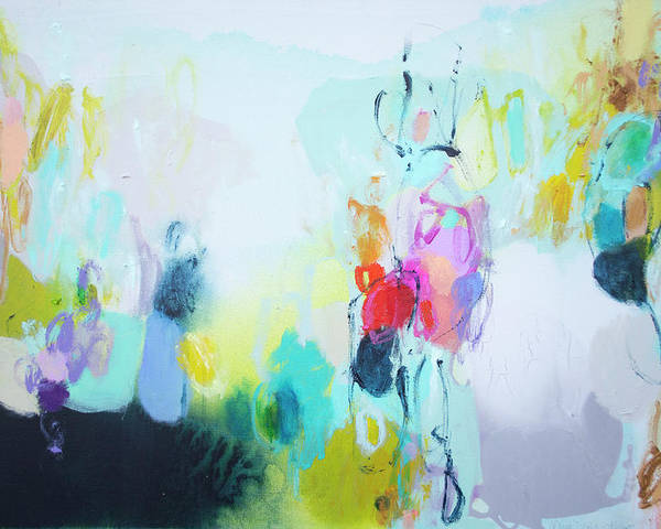 Abstract Poster featuring the painting On A Road Less Travelled by Claire Desjardins