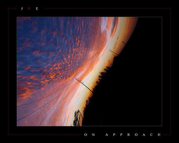 Sky Poster featuring the photograph On Approach by Jonathan Ellis Keys