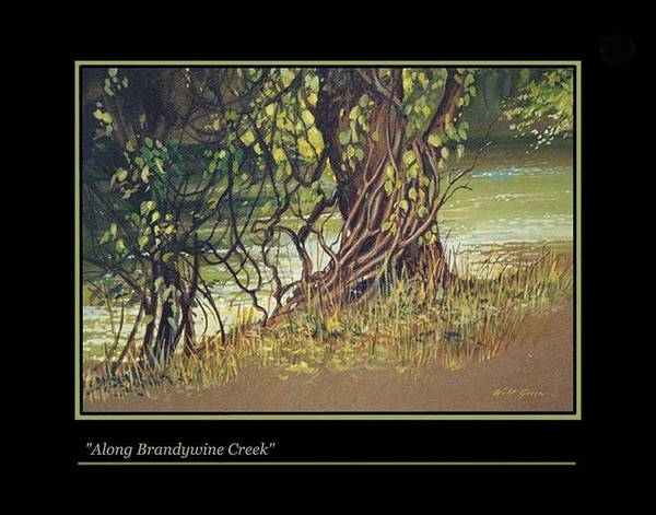 Landscape Poster featuring the painting On Brandywine Creek by Walt Green