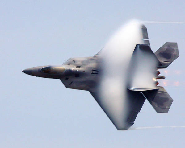 F-22 Poster featuring the photograph On The Infinite Highway by Mitch Cat