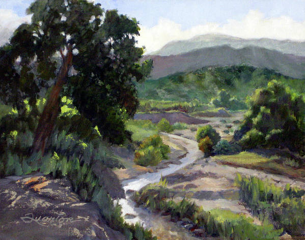 Landscape Poster featuring the painting On The Road To Black Star by Lori Quarton