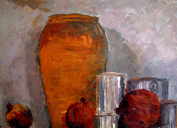 Still Life Poster featuring the painting On The Shelf by Art Nomad Sandra Hansen
