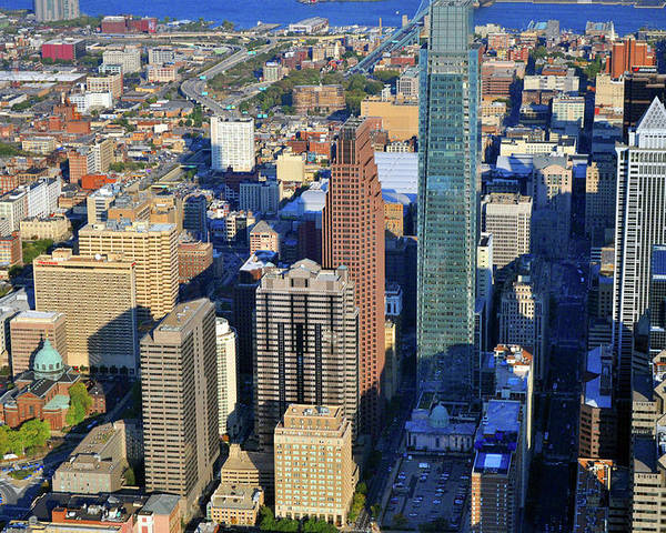 1717 Arch Street Philadelphia Poster featuring the photograph One Logan 1717 Arch Comcast Center by Duncan Pearson