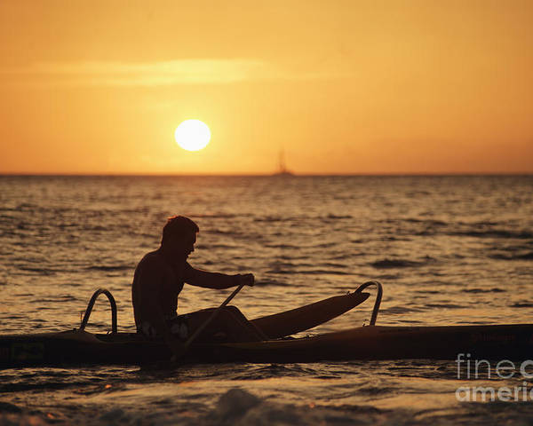 Afternoon Poster featuring the photograph One Man Canoe by Sri Maiava Rusden - Printscapes