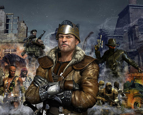 King Poster featuring the digital art One World One King by Kurt Miller