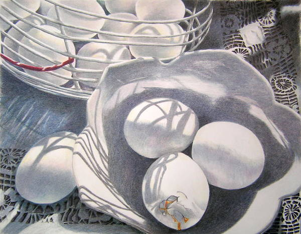 Still Life Poster featuring the drawing Oops by Susan Moyer