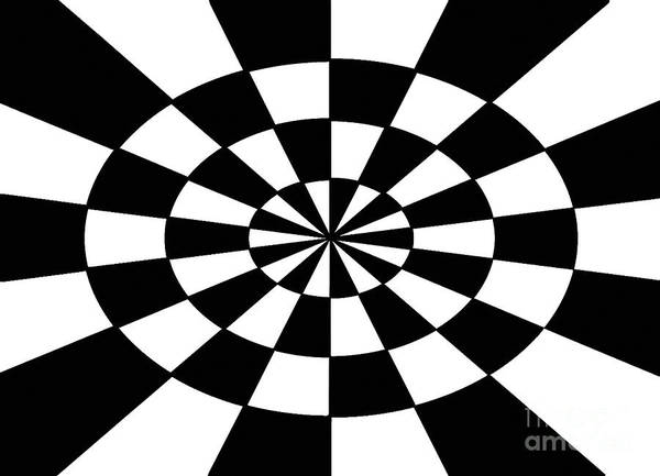 Op Art Poster featuring the painting Op Art by Methune Hively