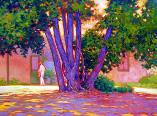 Tree Poster featuring the painting Open For Business by Kevin Lawrence Leveque