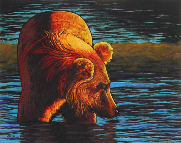 Wildlife Poster featuring the painting Opening Day - The Fisherman by Joe Triano