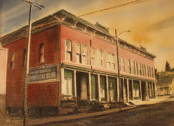 Historic Poster featuring the painting Opera House Philipsburg Montana by Kevin Heaney