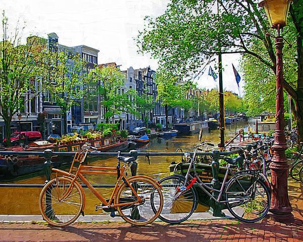 Bike Poster featuring the photograph Orange Bike by Tom Reynen