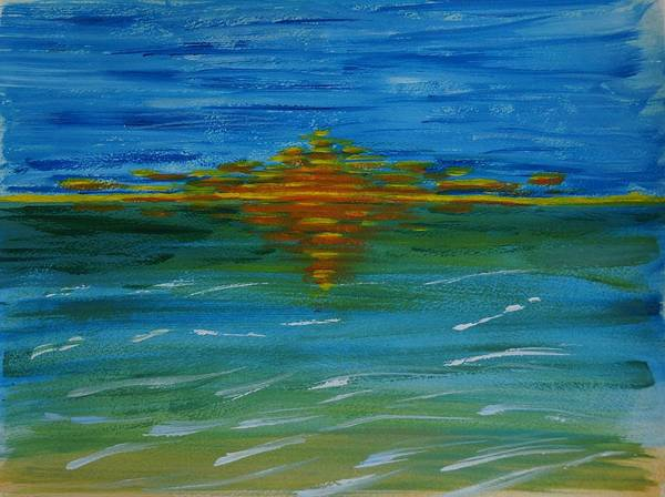 Sunset Poster featuring the painting Orange Glow by Sue O'Sullivan