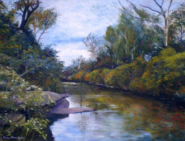 Impressionism Poster featuring the painting Orara River Nsw Australia 1995  by Enver Larney