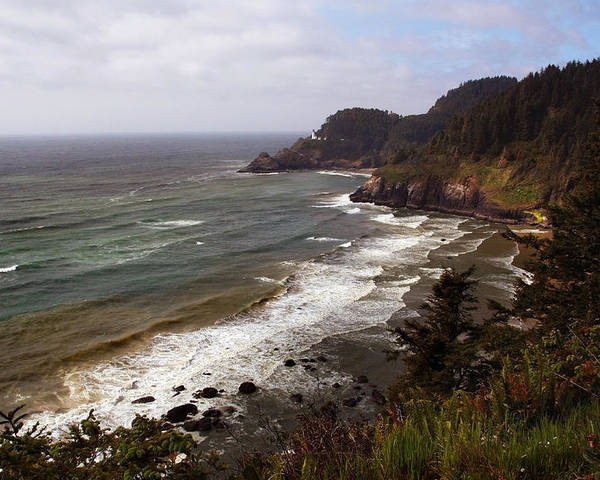 Oregon Poster featuring the photograph Oregon Coast by Joanne Coyle