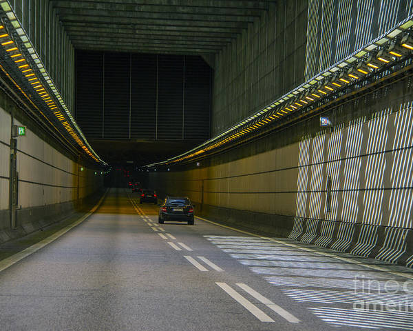 Tunnel Poster featuring the photograph Oresund Tunnel by Roberta Bragan