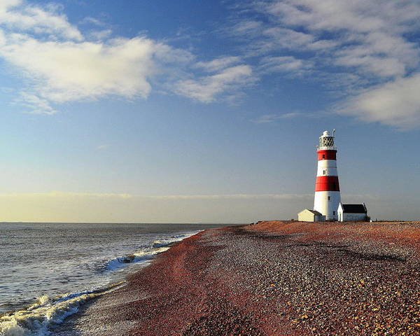 Horizontal Poster featuring the photograph Orford Ness Lighthouse by Photo by Andrew Boxall