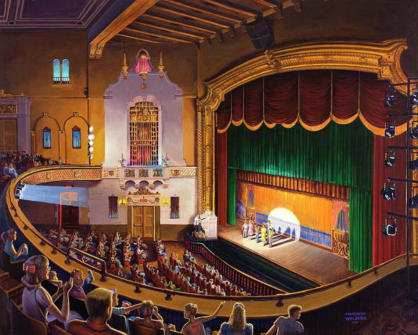 Jefferson Theatre Poster featuring the painting Organ Club - Jefferson by Randy Welborn