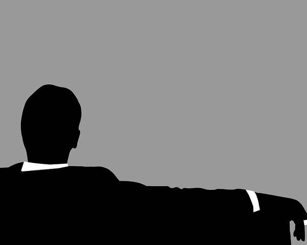 Mad Men Silhouette Poster featuring the digital art Original Mad Men by Dan Sproul