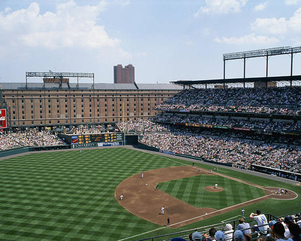 Baltimore Orioles Poster featuring the photograph Orioles Park. Kansas City Royals by Brian Gordon Green