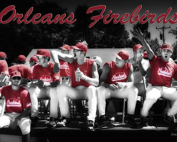Orleans Firebirds Poster featuring the photograph Orleans Firebirds Baseball Team by Dapixara Art
