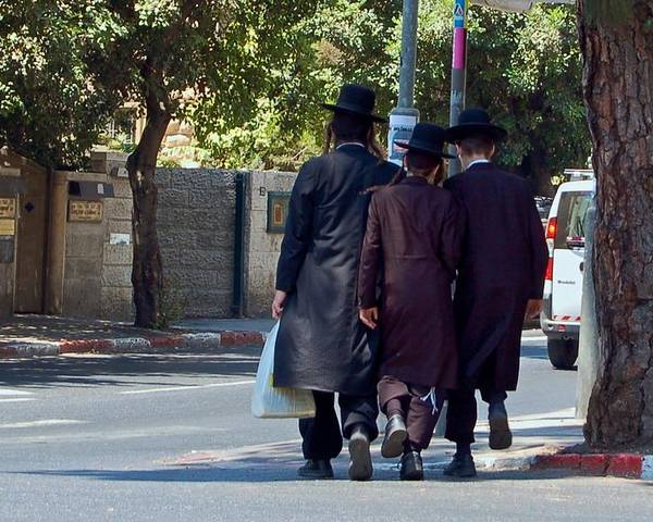 Israel Poster featuring the photograph Orthodox Jews In Jerusalem by Susan Heller