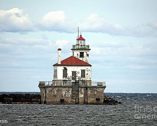 Lake Ontario Poster featuring the photograph Oswego NY Lighthouse by Rennae Christman