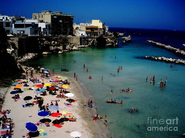 Beach Poster featuring the photograph Otranto Puglia Italia by Carina Francioso
