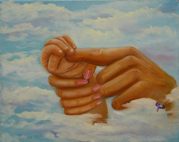 Family Poster featuring the painting Our Hands by Joni McPherson