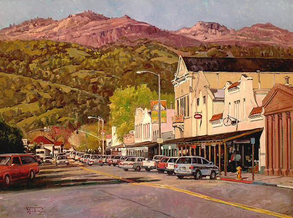 Calistoga Poster featuring the painting Our Town by Paul Youngman