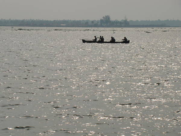 Water Scape Poster featuring the photograph Out Fishing-1 by Reshmi Shankar