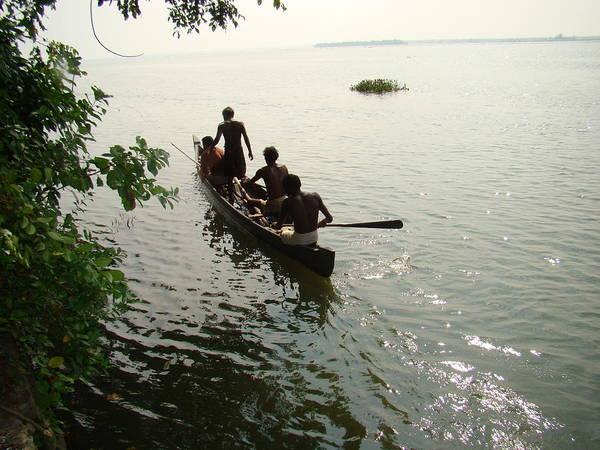 Landscapes Poster featuring the photograph Out Fishing by Reshmi Shankar