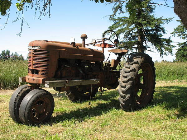 Tractor Poster featuring the photograph Out To Pasture by Juli House