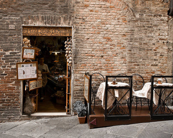 Cafe Poster featuring the photograph Outdoor Seating Available by Carl Jackson