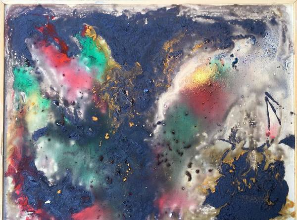 Abstract Of Space Poster featuring the painting Outer Space by Marge Healy